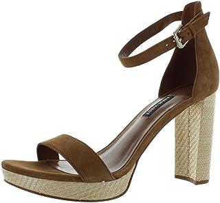 Dempsey Platform Heel Sandal Dark Natural Suede