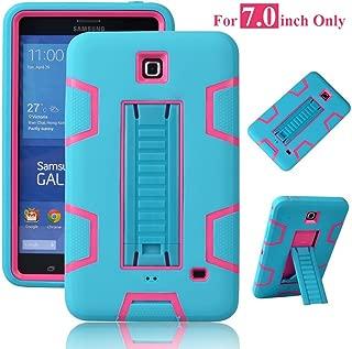 Galaxy Tab 4 7.0 Case, Magicsky 3in1 Heavy Duty Hybrid Shockproof Armor Kickstand Case For Samsung Galaxy Tab 4 7.0 T230 /T231/ T235 Galaxy Tab 4 Nook Cover - Hot Pink/Teal