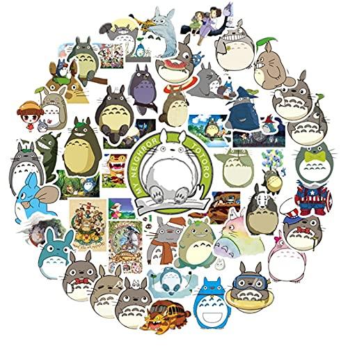 BUCUO Dibujos Animados Lindo Anime mi Vecino Totoro Pegatina Impermeable Maleta portátil Funda de teléfono Taza de Agua decoración Pegatina
