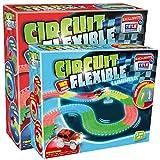 Venteo Circuit Flexible et Lumineux 382 pcs – Le Circuit de Voitures Dont Les Rails Se tordent à volonté et s'illuminent