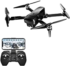 Fine Foldable Drone, 4K 720P Dual Camera 5G WiFi FPV 30mins Flight Time Brushless Motor Braking System RC Drone (with Camera)