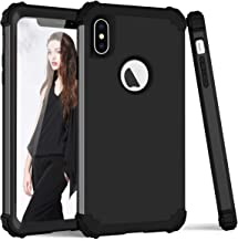 iPhone X Case, iPhone Ten Case, SUMOON 3 in 1 [Full-Body Protective ] [Shockproof] [Fit Perfect] Hard PC+ Soft Silicon Rubber Armor Defender Protective Case Cover for iPhone X/10 2017