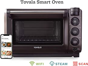 Tovala Gen 2 Smart Steam Oven   Countertop WiFi Oven   5 Mode Programmable Oven   Toast, Steam, Bake, Broil and Reheat   Black & Stainless Steel Convection Oven