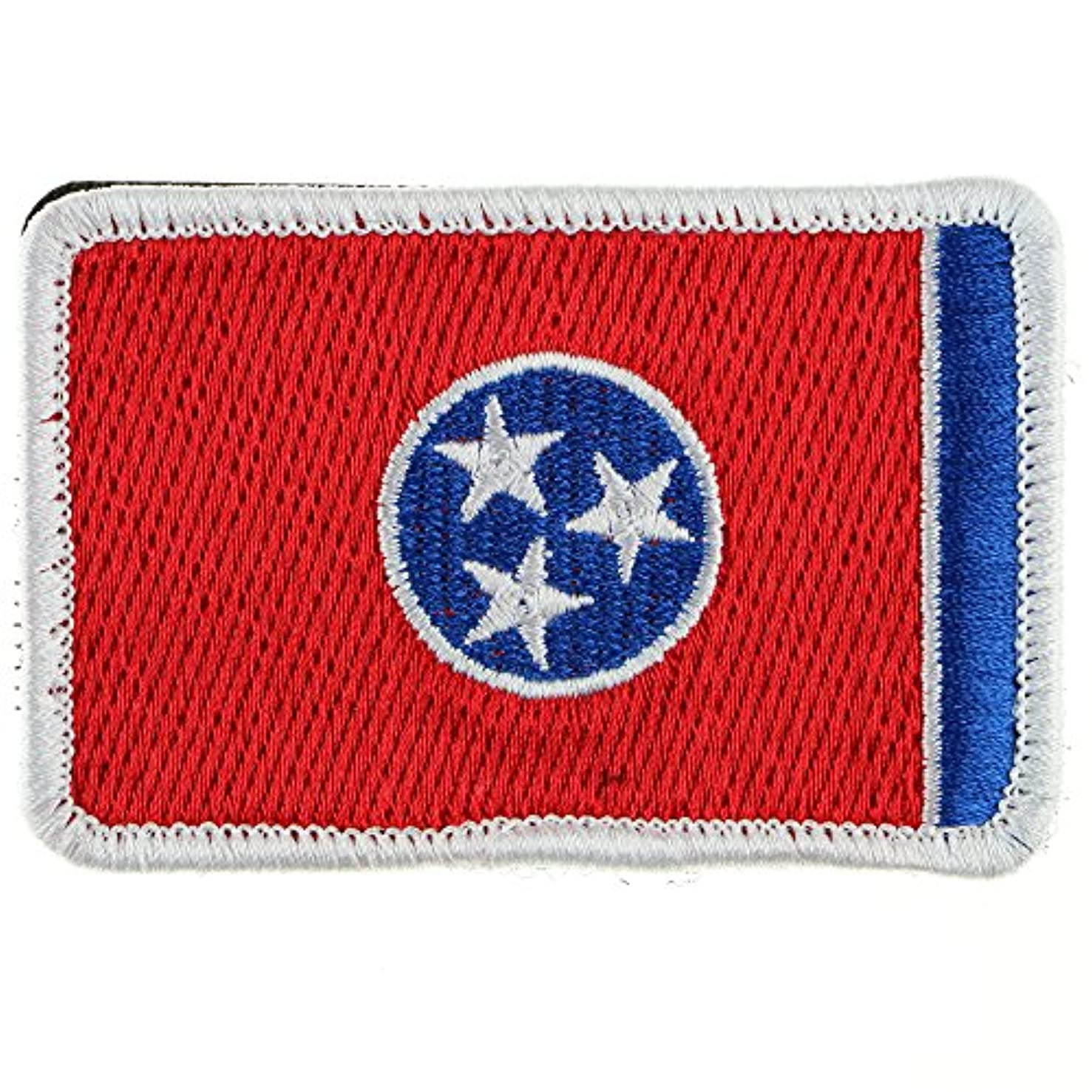 LiZMS Tactical Patch : Tennessee Flag - Hook and Loop Fasteners