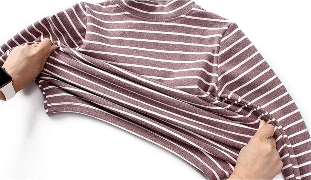 ZL4CH Kid's Fleece Shirt Thermal Baselayer Long Sleeve Underwear(6-10 Years)
