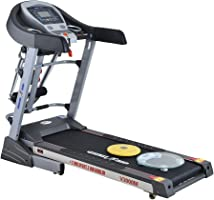 Health Life V3000M Multi-function Motorized Treadmill With Personal Scale -120 KG, Grey/Black