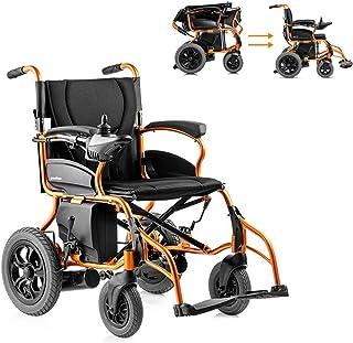 Inicio Accesorios Ancianos Discapacitados Plegable Eléctrico Ayuda a la movilidad compacta Silla de ruedas Silla de ruedas eléctrica ligera Scooter médico portátil con frenos de mano Puede soportar