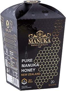 Royal Manuka Honey Spoons with UMF5+ | MGO 83+ | 100% Natural & Pure Manuka Honey (20 Spoons) From New Zealand