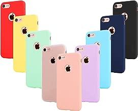 """Leathlux 9X Funda iPhone 6S / 6 Silicona Carcasa Ultra Fina TPU Flexible Cover Funda para iPhone 6S / 6-4.7"""" Rosa, Verde, Púrpura, Azul Cielo, Amarillo, Rojo, Azul Oscuro, Translúcido, Negro"""