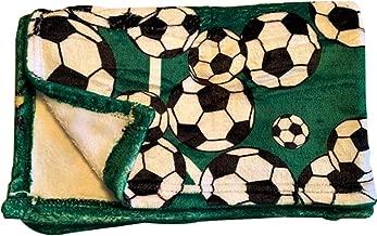 Soccer Fleece Throw Blanket - Kids Toddler Plush Fleece 40