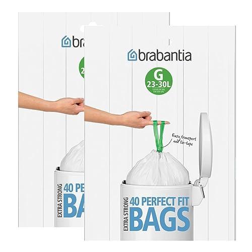 Brabantia Lot de 40 sacs poubelle (G) 30l, 2 Pack