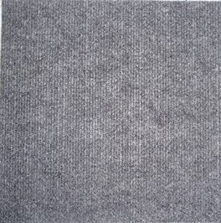 Carpet Tiles Peel and Stick Gray 12 Inch, 36 Square Feet