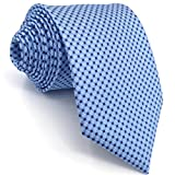 Shlax&Wing Herren Krawatte Blau Punkte Geschäftsanzug Mehrfarbig Seide Geschäftsanzug For Männer Dünne