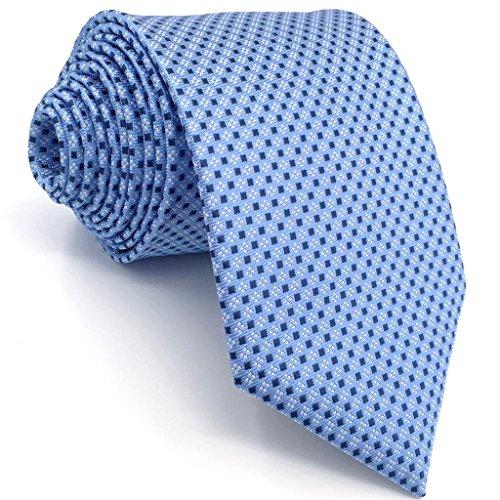 shlax&wing Corbatas Para Hombre Azul Puntos Traje de negocios Seda Corbata Flaca