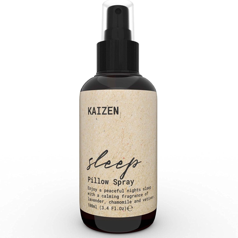 KAIZEN Spray Almohada para Dormir - Deep Sleep Pillow Spray Natural para Relajar Cuerpo y Mente - Spray para Dormir con Aceites Escenciales de Lavanda y Manzanilla - Lavanda Spray para Dormir,