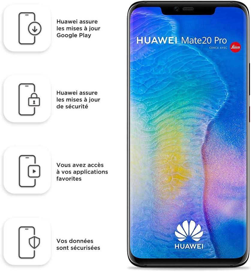 Huawei Mate 20 Pro (GSM Only, No CDMA) Unlocked 6GB RAM 128GB Storage Dual Sim LYA-L29 - International Version/No Warranty - Black
