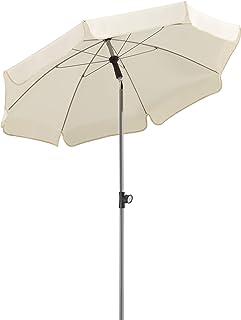 Schneider 715-02 Paraply Locarno ca 150 cm Ø, 8 delar, rund, naturlig, 150 x 150 x 220 cm