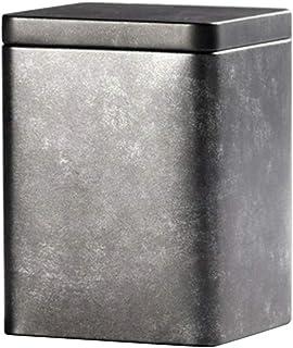 PETSOLA 茶缶 ティーボックス 茶筒 メタル 気密ふた付 砂糖 チョコレート コーヒー 贈り物 ふた付 - #2