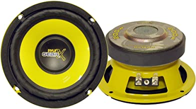 """Car Mid Bass Speaker System - Pro 5 Inch 200 Watt 4 Ohm Auto Mid-Bass Component Poly Woofer Audio Sound Speakers For Car Stereo w/ 30 Oz Magnet Structure, 2.2"""" Mount Depth Fits OEM - Pyle PLG54"""