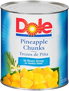 Dole Pineapple Fancy Chunks In Heavy Syrup, 106 Ounce -- 6 per case.
