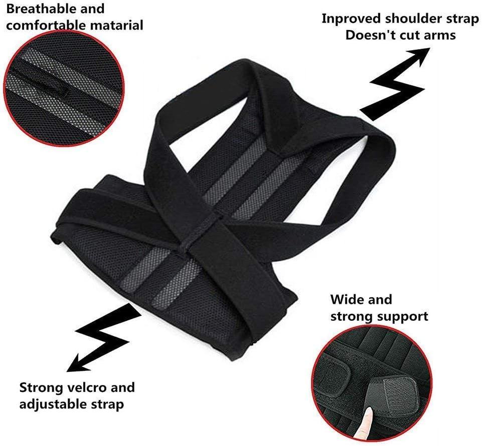 YUMUO Correcteur de Posture arrière réglable pour Le Soutien de la clavicule de l'épaule pour Hommes et Femmes 2