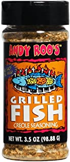 Andy Roo's Salt-Free Grilled Fish Creole Seasoning, 3.5 Ounce Shaker