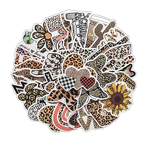 Serie de Estampado de Leopardo Calcomanía de Dibujos Animados Casco Nota Equipaje Coche Scooter Motocicleta Pegatinas Decorativas 50 Piezas