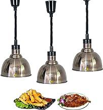 Lampe Chauffante Commerciale pour Aliments, Lampe Chauffe-Plats de Cuisine pour Maintenir la Température des Aliments, Sus...