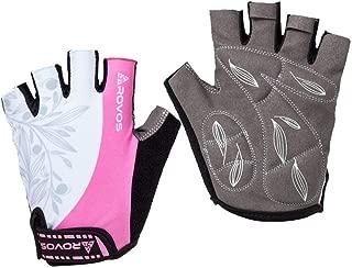 ROVOS Women's Light Non-Slip Half Finger Gel Pad Cycling...