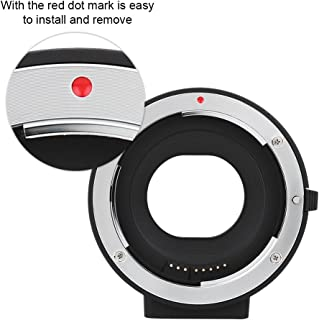 Topiky Anillo Adaptador de Montaje de Lente FD-EOS de Metal,Convertidor de Montaje de Lente de C/ámara Profesional para Canon Lente FD a para C/ámara Canon EOS