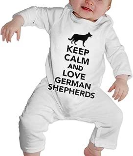 Keep Calm and Love German Shepherds Newborn Kids Long Sleeve Bodysuit Baby Rompers Onsies