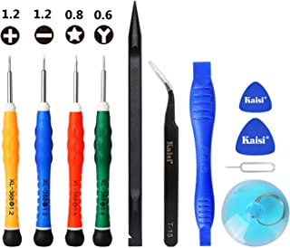 YESCOO 11PCS Cell Phone Repair Tool Kit iPhone Screwdriver for iPhone X XS, iPhone 8/8 Plus/7/7 Plus/6/6 Plus /6S/5/5C/5S/4/4S and More, Phillips, Pentalobe and Y 0.6mm Tri-Point Triwing Screwdrivers