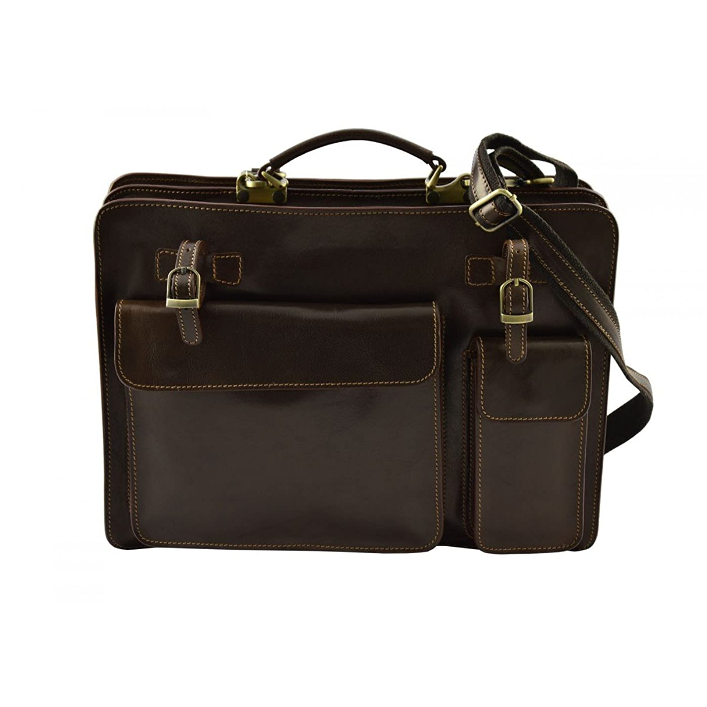 挑発する処理フライトDream Leather Bags Made in Italy Genuine Leather メンズ US サイズ: 1 カラー: ブラウン