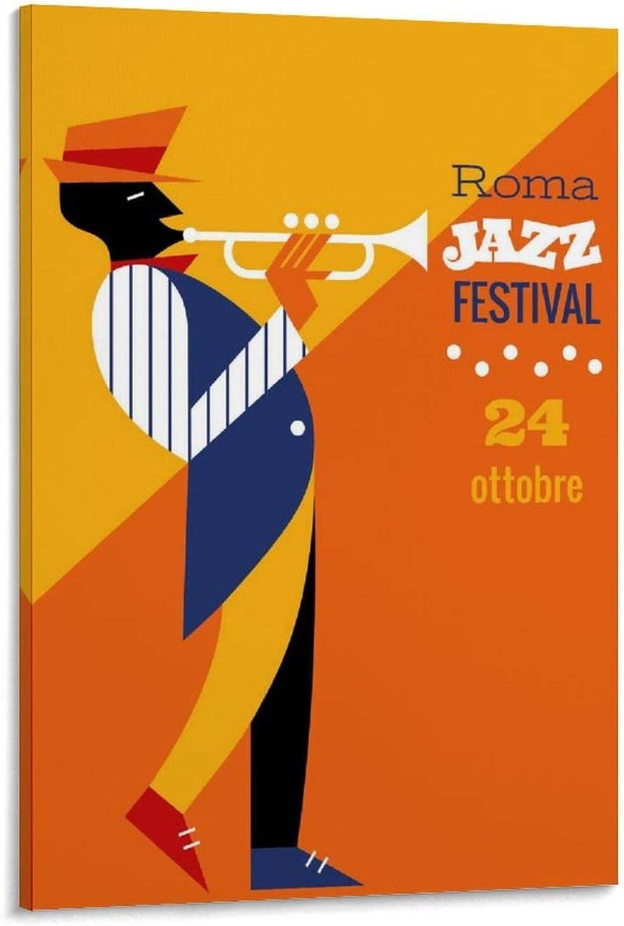 FDKJ Art Deco 20 x 30 cm P/óster de jazz vintage
