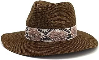 LiWen Zheng Summer Hat Women Panama Straw Hat Fedora Beach Vacation Wide Brim Visor Casual Summer Sun Hats for Women Sombrero