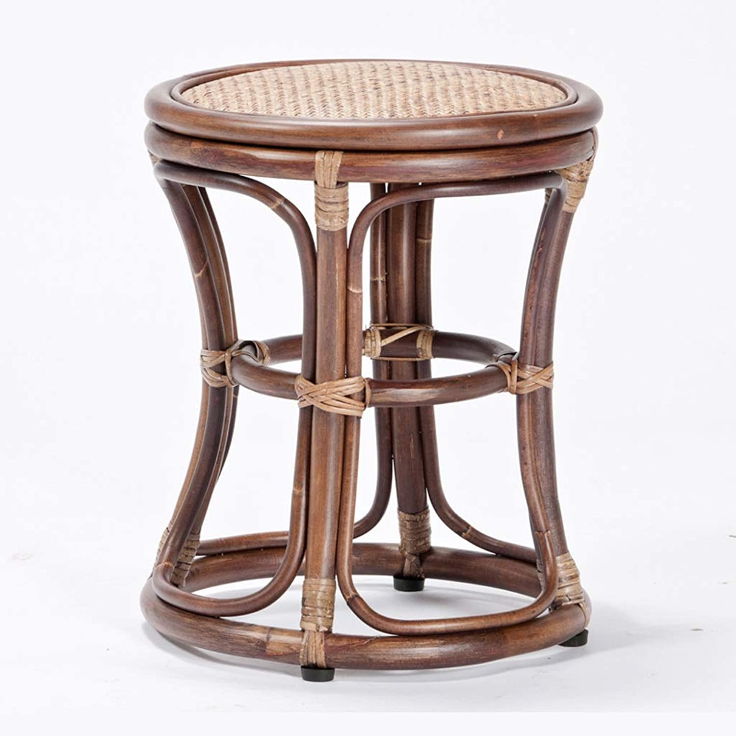 SYFO Home Modern Simple Rattan Stools Change shoes Stool Creative Rattan Change shoes Bench Two Sizes Stool (Size   H 42cm)