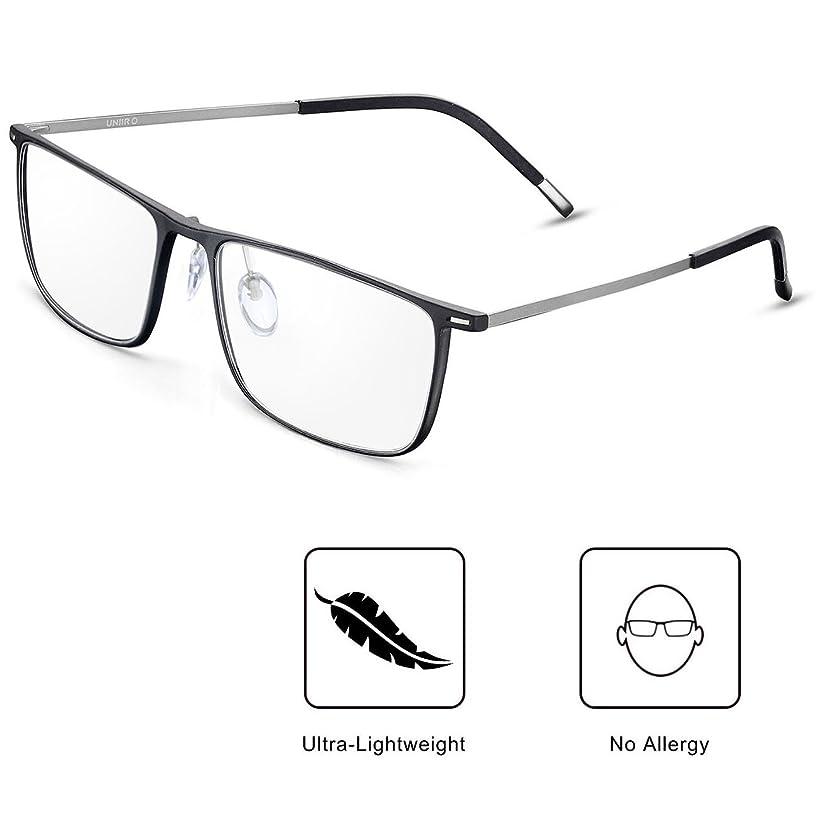 Blue Light UV Blocking Light Filter Computer Reading Glasses Flexible Frame Anti Eye Fatigue Transparent Lens Ultra-Lightweight Vision Care Protect Your Eyes Unisex for Men and Women (Matted Black)