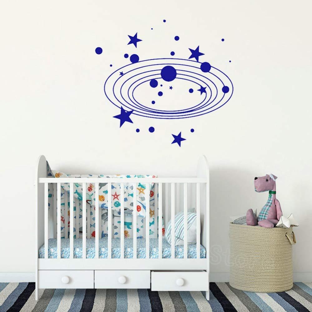 yaonuli Etiqueta engomada del Arte del Vinilo Espacio Exterior bebé Cuarto de niños decoración de la Pared Mural removible46x42cm: Amazon.es: Hogar