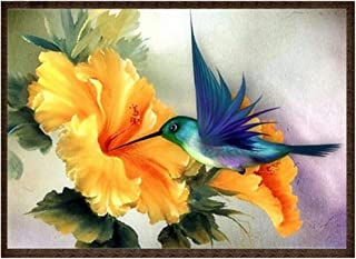 SOURBAN Hummingbird Flower Rhinestone Embroidery Adults 5D DIY Diamond Painting Kits Wall Art Mural Decor