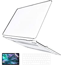 B BELK MacBook Air 13 Inch Case 2020 2019 2018 Release A2337 M1 A2179 A1932, Crystal Clear Plastic Hard Shell Cover + Keyb...