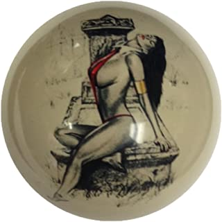 Red Bikini Tombstone Pin-Up Girl Cue Ball Custom for Pool Players by D&L Billiards