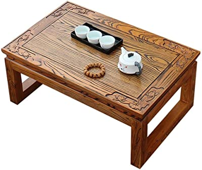 Solid Wood Coffee Table Wooden Small Table Balcony Low Table Low Coffee Table Tea Table Laptop Table (Color : A, Size : 60x40x25cm)