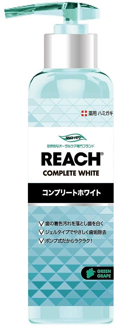 経済対方言REACH リーチ 歯みがき ポンプタイプ グリーングレープの香り180G×6点