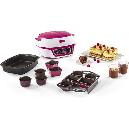 Tefal Cake Factory Delices, Machine intelligente à gâteaux, Appareil Cuisson, Pâtisserie, Muffins, Moules CreaBake inclus, 5 programmes, Compatible moules CreaBake, Pain, Crèmes dessert KD810112