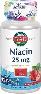 Kal 25 Mg Niacin Tablets, Strawberry, 200 Count