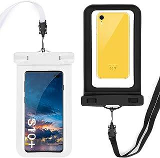 GeeRic Paquete de 2 Fundas Impermeables para Celular,Waterproof Phone Pouch Case Compatible para iPhone X/XR/XS/XS MAX/8/7...