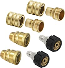 Prince Mark Ultimate Pressure Washer Adapter Set, Quick Disconnect Kit, M22 Swivel to 3/8