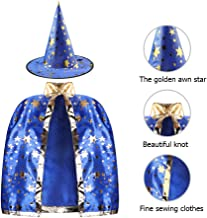 SKL Kids Halloween Costumes Witch Wizard Cloak with Hat Wizard Cape and Hat Child's Costume for Boys Girls