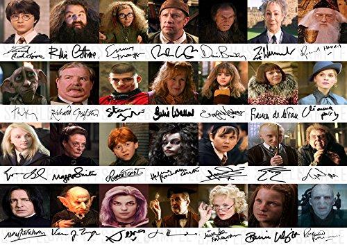 Die Signature Shop Harry Potter PP by 28Cast Mitglied–Daniel Radcliffe, Emma Watson Rupert Grint Alan Rickman Poster Foto A4