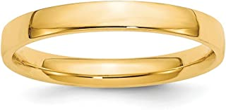 14k Yellow Gold 3mm Comfort Fit Wedding Ring Band Size 11 Classic Fine Jewelry For Women